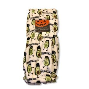Avocado Frankenguac Throw Blanket Frankenstein